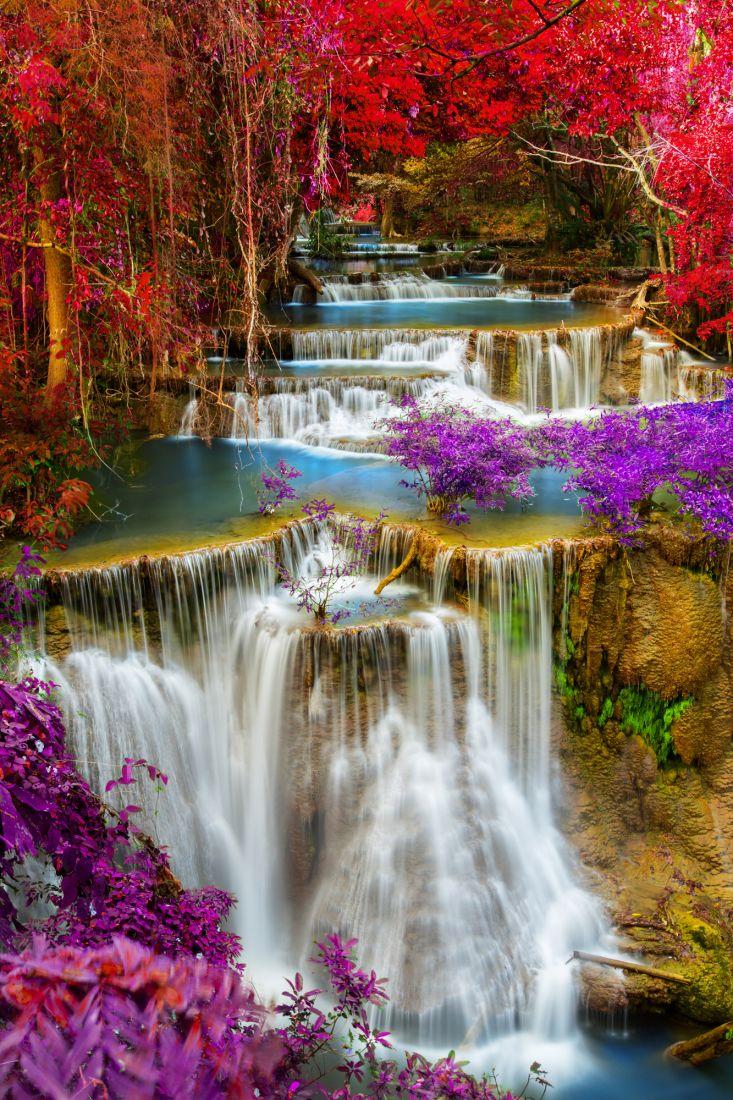 Яркий водопад 17-064