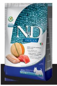 N&D Ocean Salmon, Cod & Cantalupe melon mini adult (Лосось, треска, дыня для взрослых собак мелких пород)