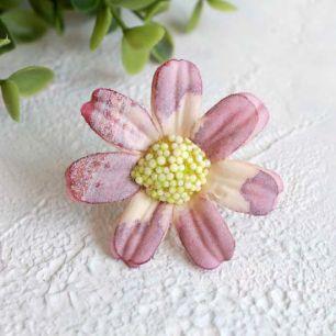 """Цветок """"Ромашка"""" 4,5 см., дымчато-розовая"""