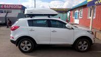 Автомобильный бокс на крышу Koffer A-430, 430 литров, белый матовый
