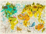 Деревянный пазл карта мира