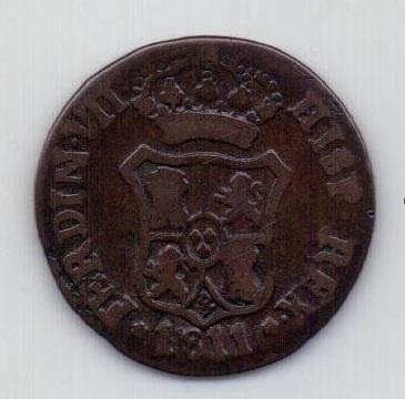 3 кварты 1811 Каталония Испания Редкий год