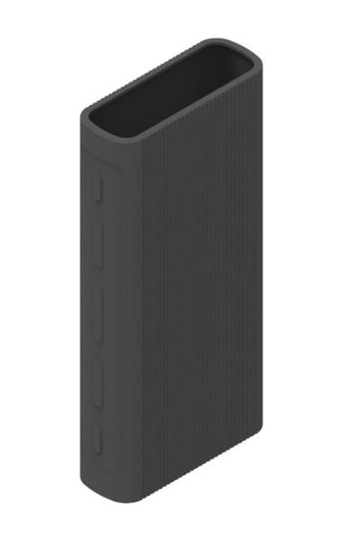 Защитный кейс для  Xiaomi Power Bank 3/3 Pro на 20000 mAh ( Силикон / Черный)