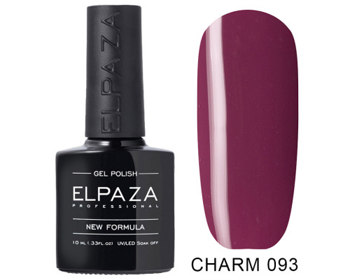ELPAZA ГЕЛЬ-ЛАК  Charm 093  Чёрная малина (Малиново-фиолетовый) 10 мл