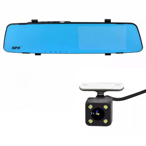 Видеорегистратор-зеркало XPX ZX848 с сенсорным экраном с камерой заднего вида