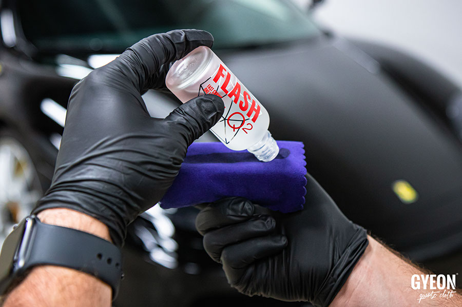 Нанесение керамического покрытия кузова авто Gyeon Q2 FLASH