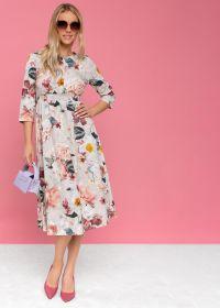 """Платье """"Альба"""" для беременных и кормящих; цветы/пудровый"""