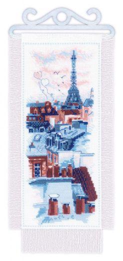 Набор для вышивания крестом Крыши Парижа № 1952 фирма Риолис