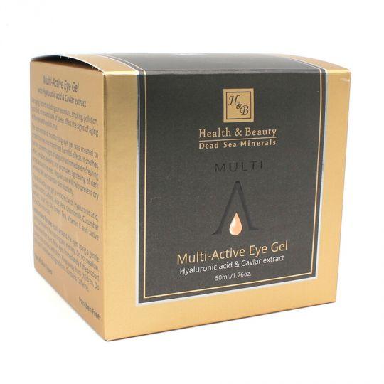 Гель для глаз мультиактивный с гиалуроновой кислотой и экстрактом черной икры Health & Beauty BLACK (Хелс энд Бьюти Блэк) 50 мл