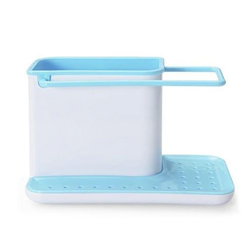 Органайзер для кухонных принадлежностей 3 в 1, цвет – голубой.