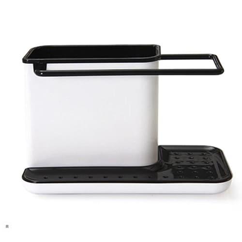 Органайзер для кухонных принадлежностей 3 в 1, цвет – чёрный.