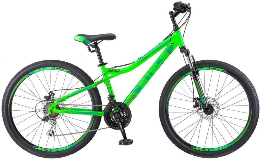"""Горный (MTB) велосипед STELS Navigator 510 MD 26"""" V010 14"""" Неоновый-зелёный (LU088700 LU074271)"""