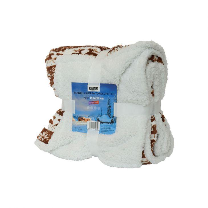Плед SHERPA Blanket Laplandia 150*200 см red/white