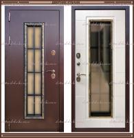 Входная дверь Агора 1,8 мм Лиственница светлая со стекло-пакетом :