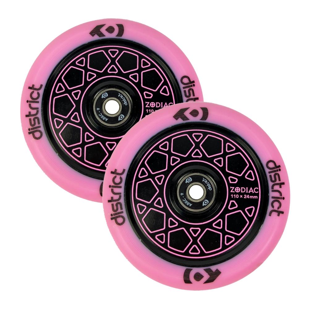 Колеса (2 шт) District Zodiac Wheel 110x24mm Pink/Black