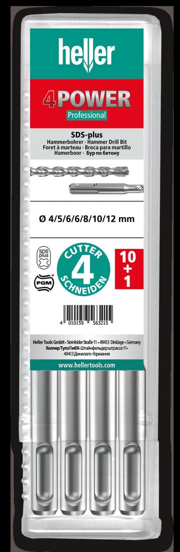 Бур по арматуре SDS-plus Heller 4POWER 6х100х160мм, 11 шт (TD29195)