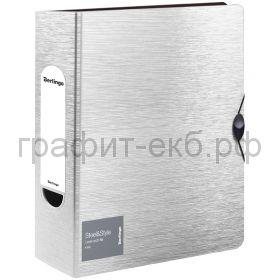 Файл А4 8см Berlingo Steel&Style на резинке белая PPf_98004