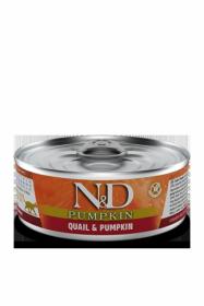 N&D CAT QUAIL&PUMPKIN (Перепел с Тыквой для кошек) 80г.