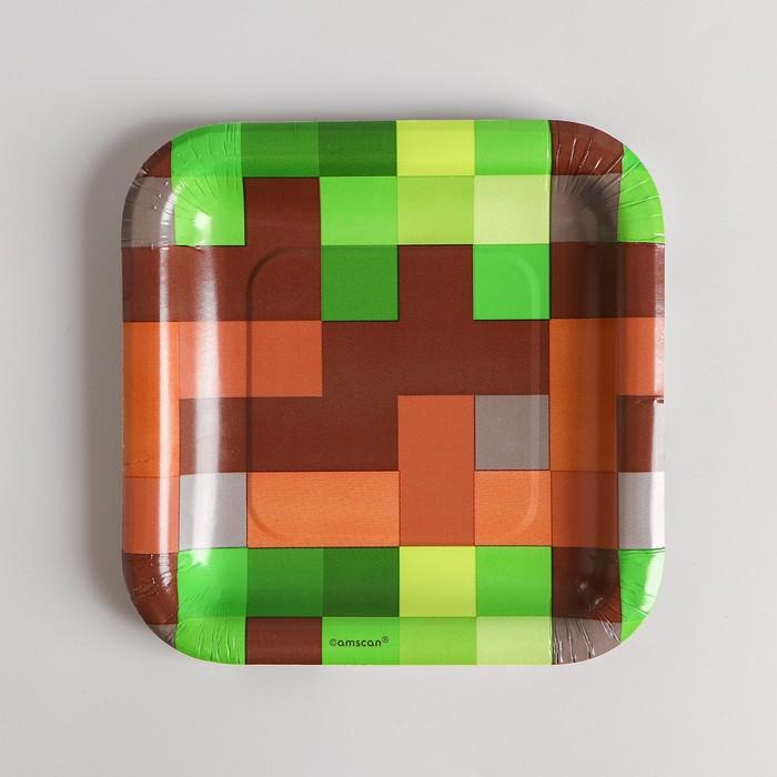 Тарелки Пиксели квадратные малые