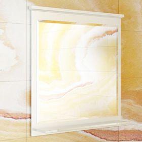 Зеркало Comforty Тбилиси-70 белый глянец