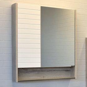Зеркало-шкаф Comforty Клеон-75 белый/дуб дымчатый
