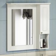 Зеркало-шкаф Comforty Палермо-80 белый глянец