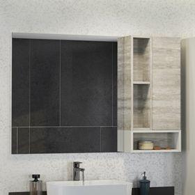 Зеркало-шкаф Comforty Прага-120 дуб белый