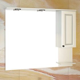 Зеркало-шкаф Comforty Севилья-100 слоновая кость