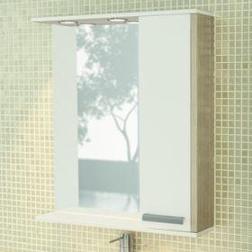 Зеркало-шкаф Comforty Тулуза-75 сосна лоредо