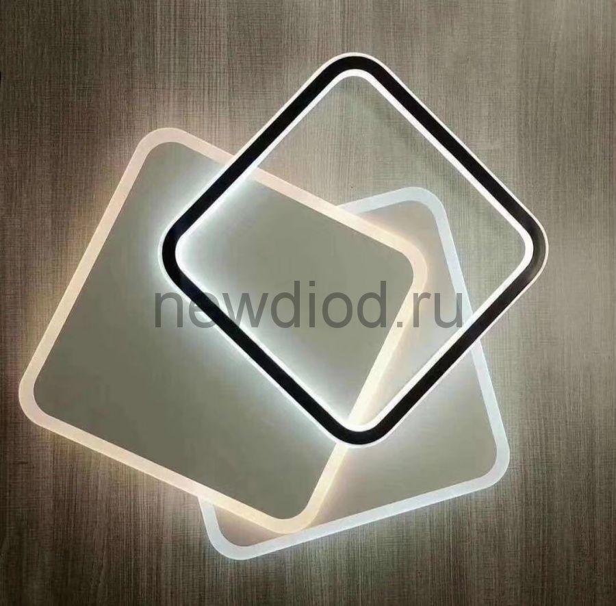 Управляемый светодиодный светильник GEOMETRIA 9254-6 90Вт-23м² 500мм 6/3/4000K пульт Oreol
