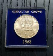Гибралтар 1 крона 1968г в футляре (отличная) Msh
