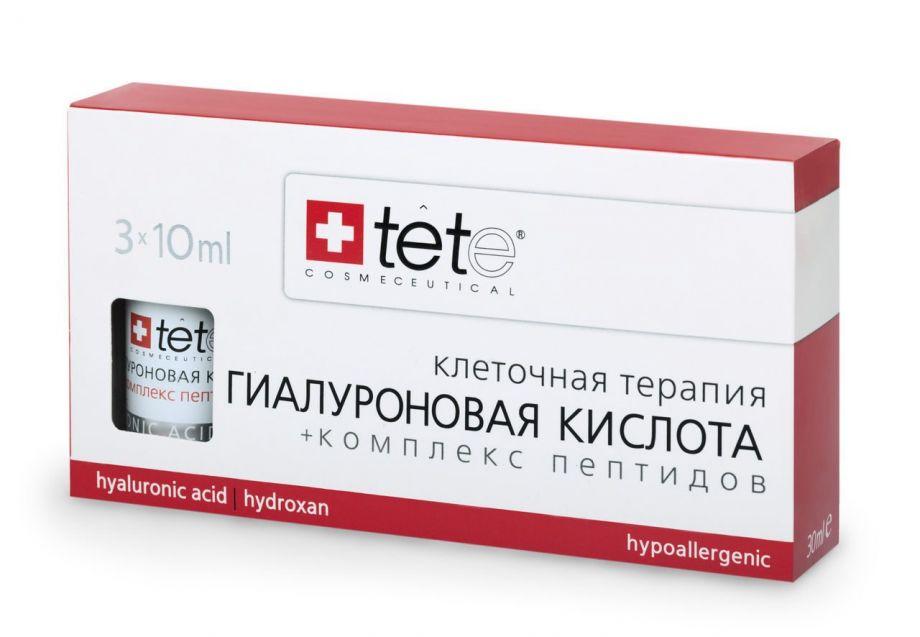 Гиалуроновая кислота и комплекс пептидов Tete cosmeceutical (Тете косметик) 3*10 мл