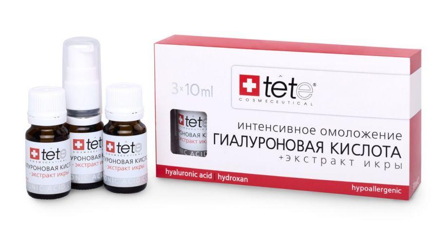 Гиалуроновая кислота и экстракт икры Tete cosmeceutical (Тете косметик) 3*10 мл