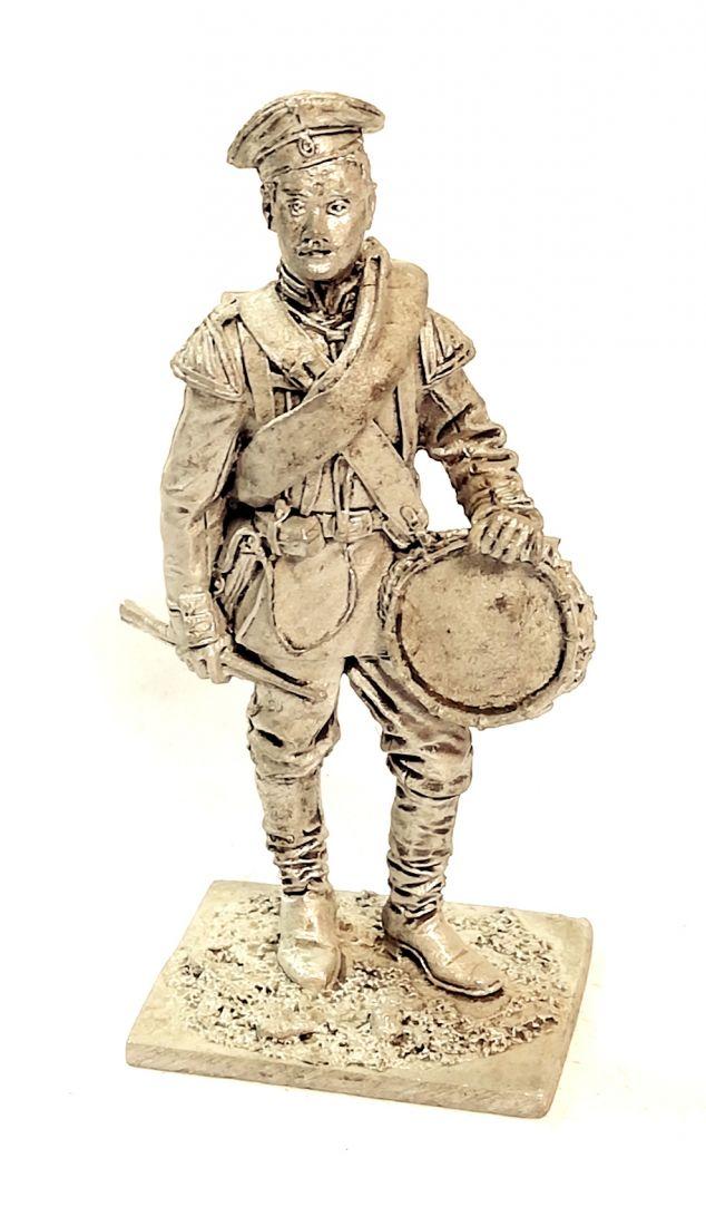 Фигурка Барабанщик лейб-гвардии Павловского полка. Россия 1884 г олово