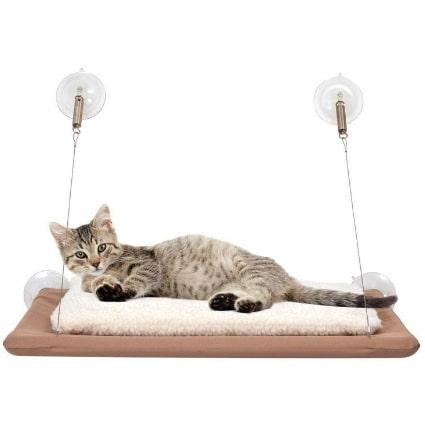 Лежанка подвесная для кошек Sunny Seat Window Mounted Cat Bed - уютный уголок для сна и отдыха вашего любимца.