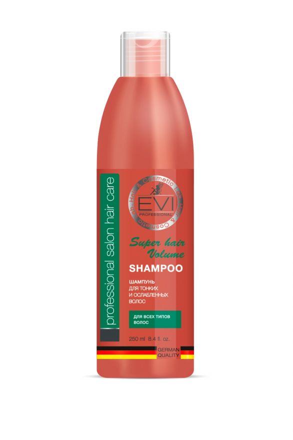 Шампунь «Объем и сила» для тонких и ослабленных волос, 250 мл. «EVI»
