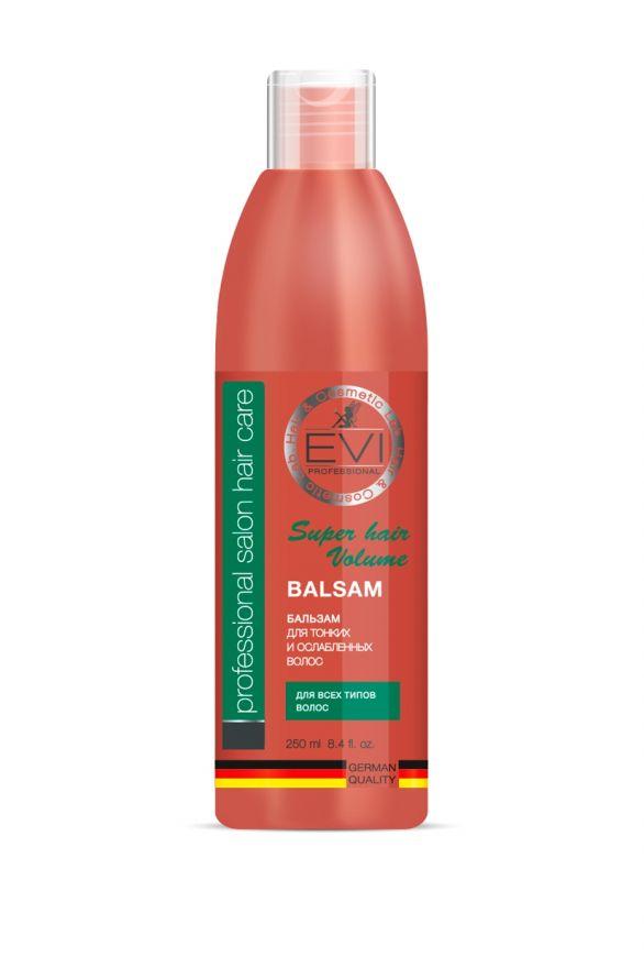 Бальзам-ополаскиватель «Объем и сила» для тонких и ослабленных волос, 250 мл. «EVI»