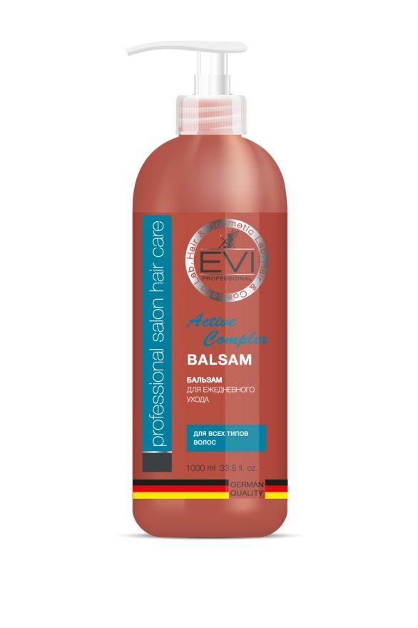 Бальзам-ополаскиватель «Активный комплекс» для всех типов  волос, 1000 мл. «EVI»
