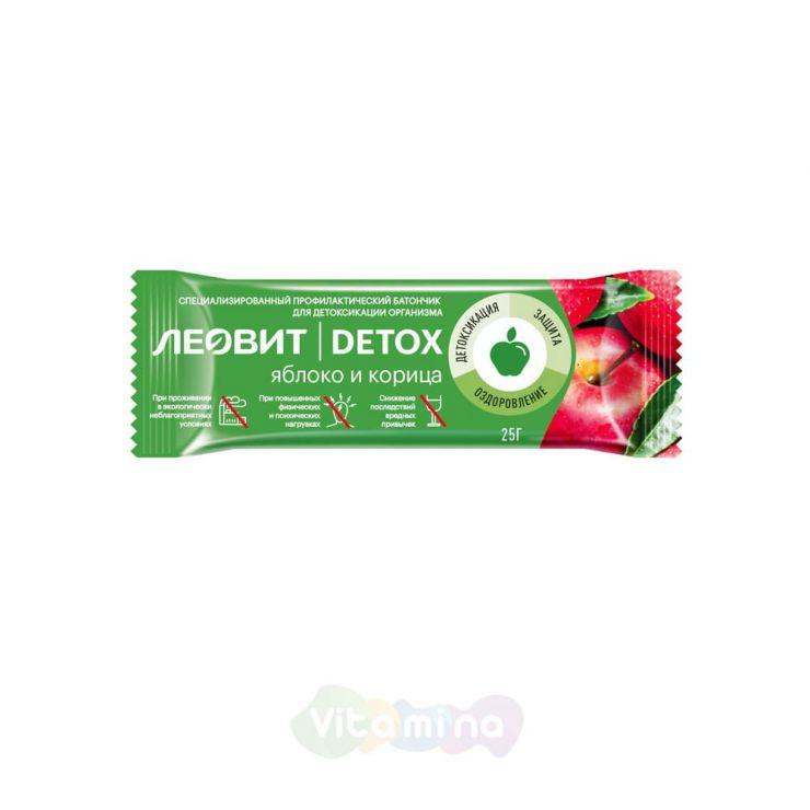 Леовит Нутрио Батончик детоксикационный яблоко-корица DETOX, 25 гр