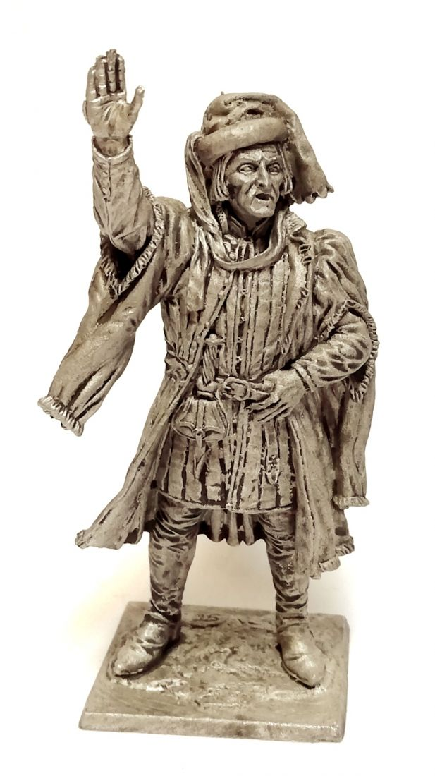 Фигурка Артиллерийский мастер. Западная Европа, 15 в олово