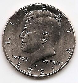 Джон Кеннеди 50 центов США 2021 Монетный двор на выбор