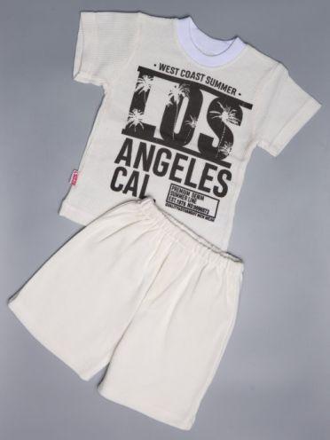 Костюм LOS белый: футболка, шорты