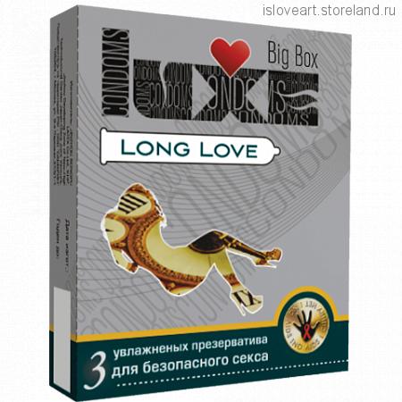 ПРЕЗЕРВАТИВЫ LUXE BIG BOX LONG LOVE ПАНЕЛЬ 3 штуки
