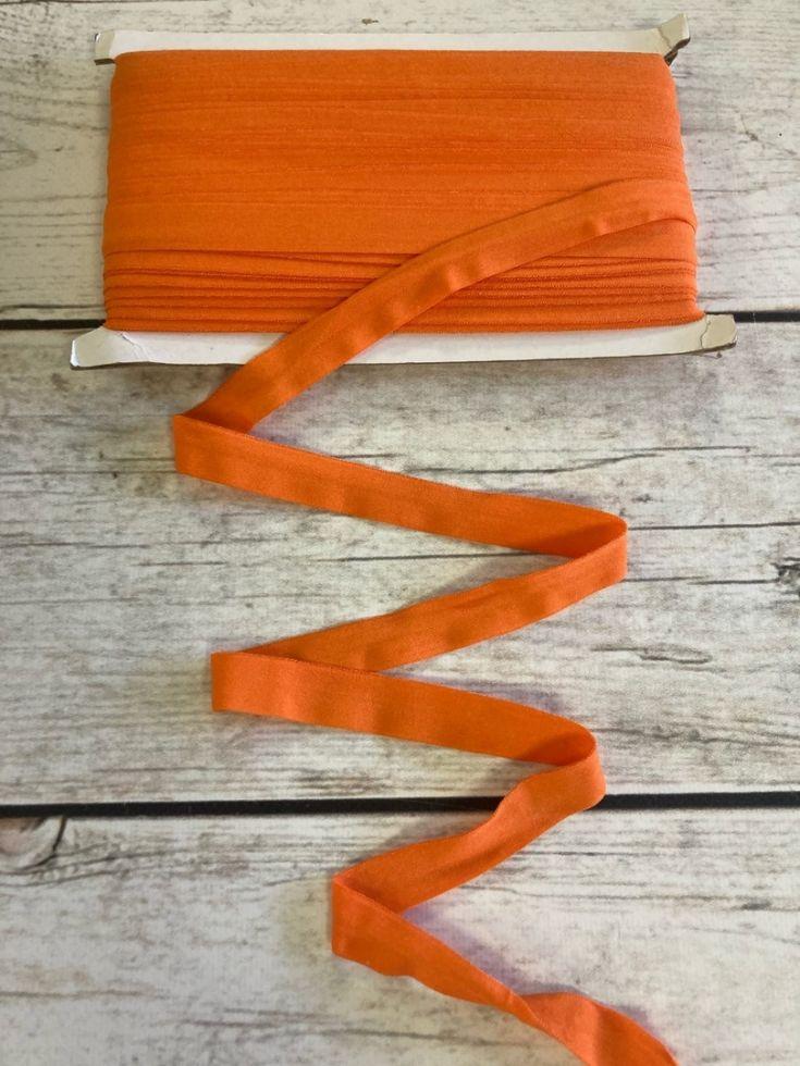 окантовочная резинка-бейка оранж матовая