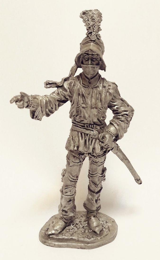 Фигурка Офицер Швейцарской пехоты 1450-85г. олово