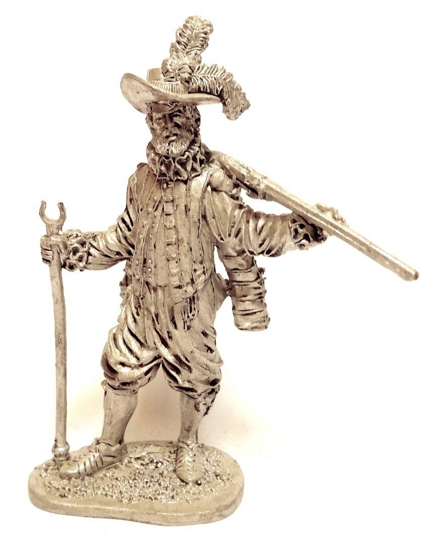 Фигурка Английский мушкетер-ветеран 1588г.  олово