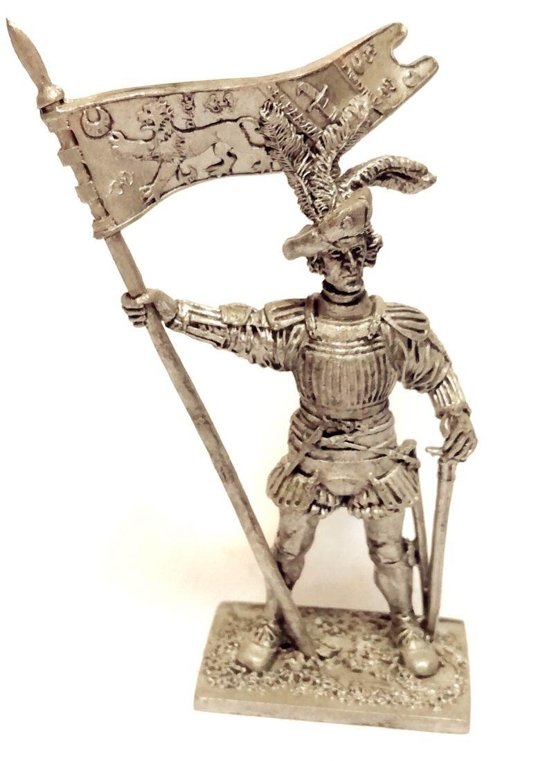 Фигурка Капитан армии Генриха VIII Англия  1513г.  олово