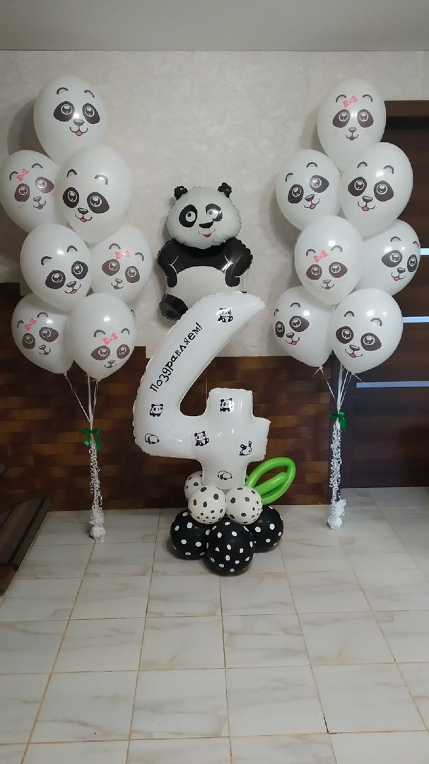 Большой сет Панда с цифрой