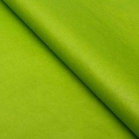 Бумага упаковочная тишью, зеленое яблоко, 50 см х 66 см