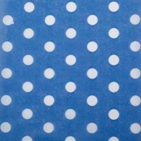 """Бумага упаковочная тишью """"Горох"""", голубой, 50 х 66 см"""